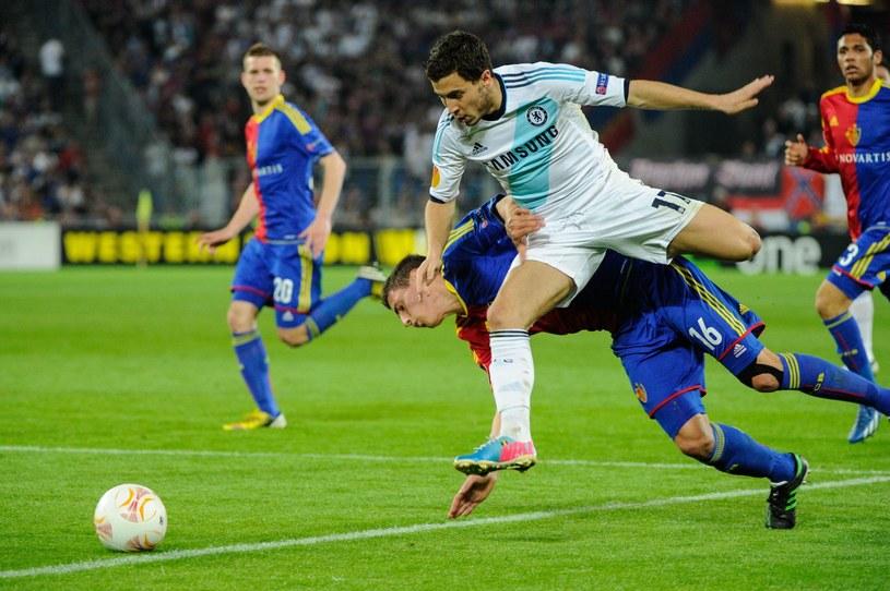 W pierwszym meczu Chelsea wygrała z FC Basel 2-1 /AFP