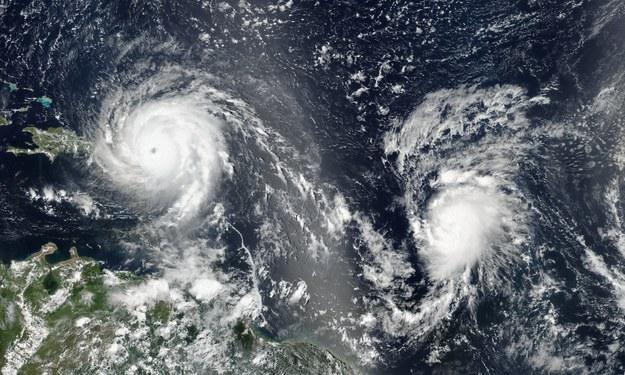 W pobliżu Karaibów, na otwartym Atlantyku, powstał front burzowy Jose /NASA / LANCE Rapid Response /PAP/EPA
