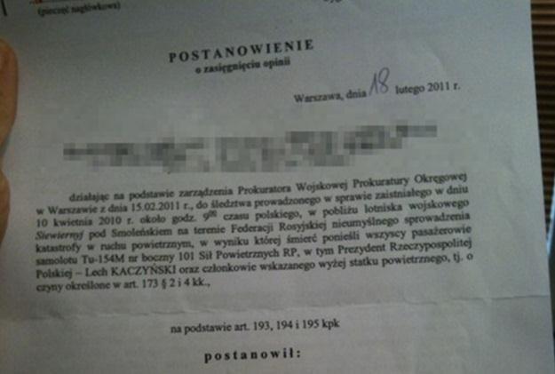 W połowie lutego Żandarmeria Wojskowa zdecydowała o sporządzeniu kolejnej opinii /RMF