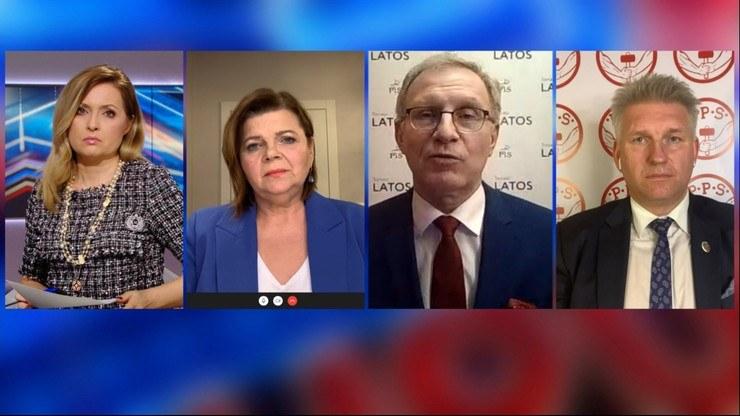 """W poniedziałkowej """"Debacie Dnia"""" politycy rozmawiali o lockdownie i sytuacji epidemicznej w Polsce /Polsat News"""