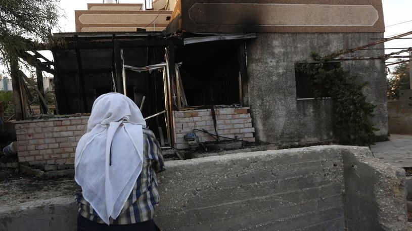 W pożarze domu zginęło 1,5-roczne palestyńskie dziecko /PAP/EPA