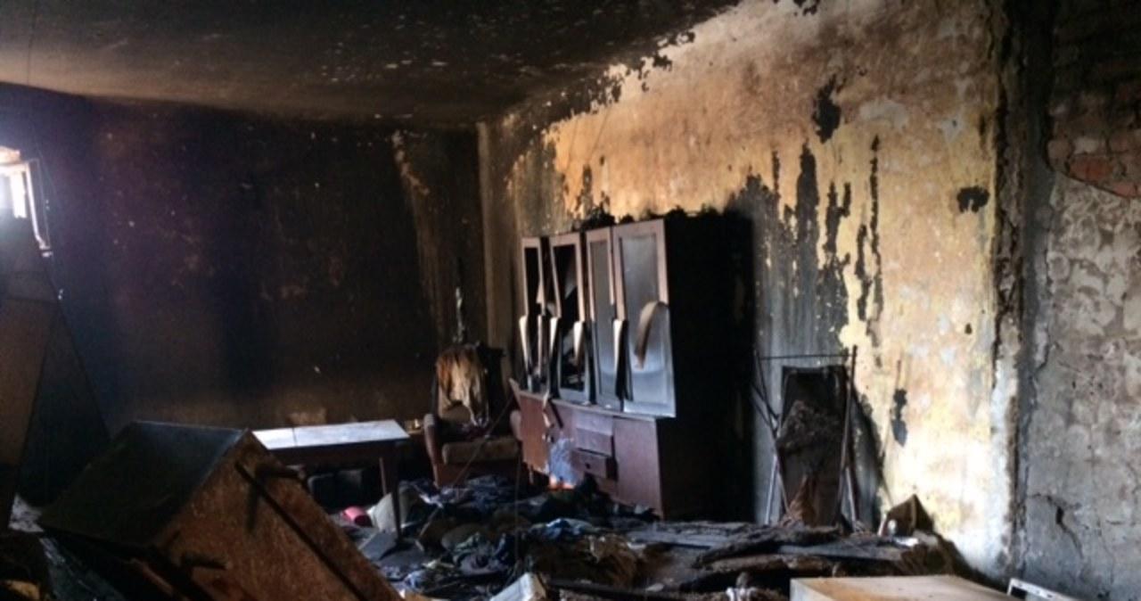 W pożarze w Łodzi zginęła jedna osoba