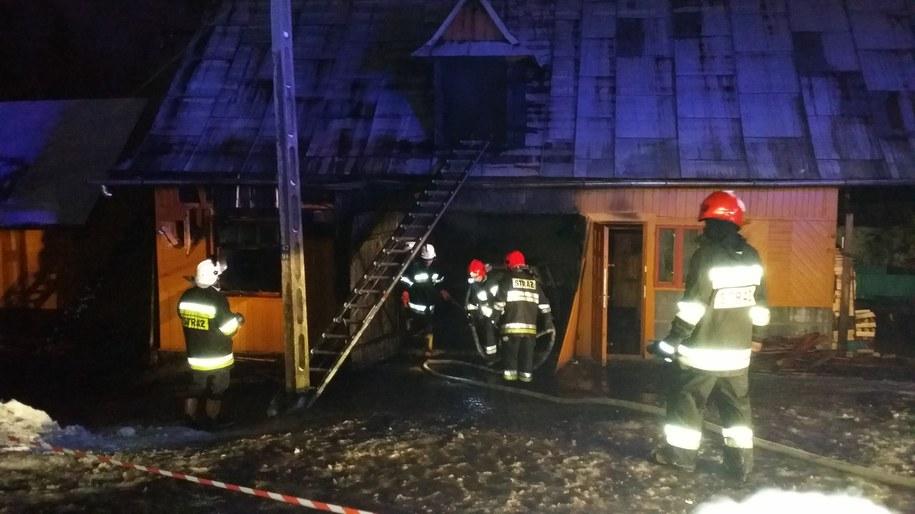 W pożarze zginął 74-letni mężczyzna /Maciej Pałahicki /RMF FM
