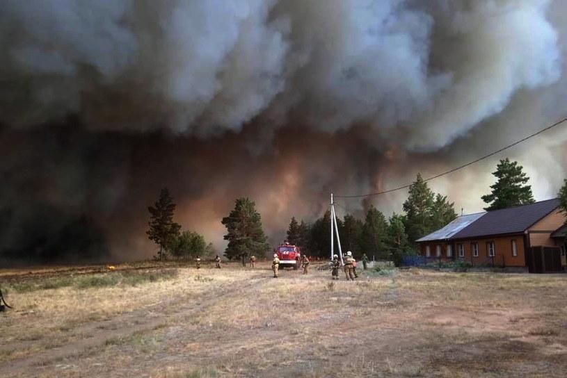 W pożarze zginęła jedna osoba /PAP/EPA /PAP