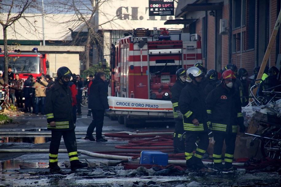 W pożarze zgineły cztery osoby /Claudio Giovannini /PAP/EPA