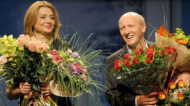 """W premierowym przedstawieniu """"Old Love"""" pierwsze skrzypce zagrali Małgorzata Ostrowska-Królikowska i Artur Barciś. /Agencja W. Impact"""