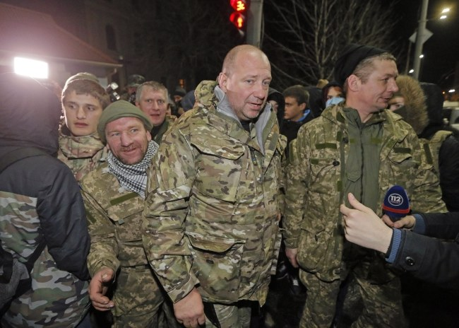 W proteście wzięło udział kilkadziesiąt osób /SERGEY DOLZHENKO /PAP/EPA