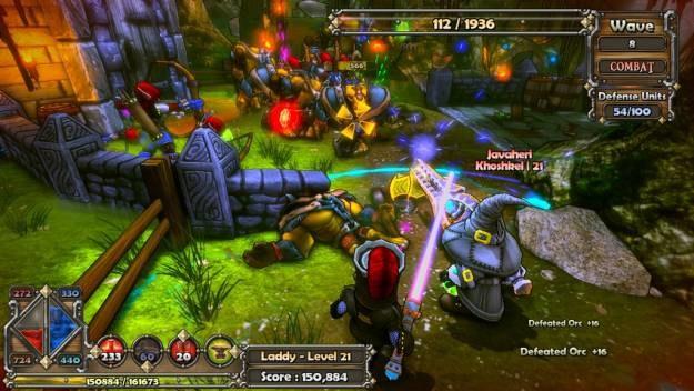 W przeciwieństwie do gier typu tower defense, DF oferuje pęłną kontrolę nad bohaterami /Informacja prasowa