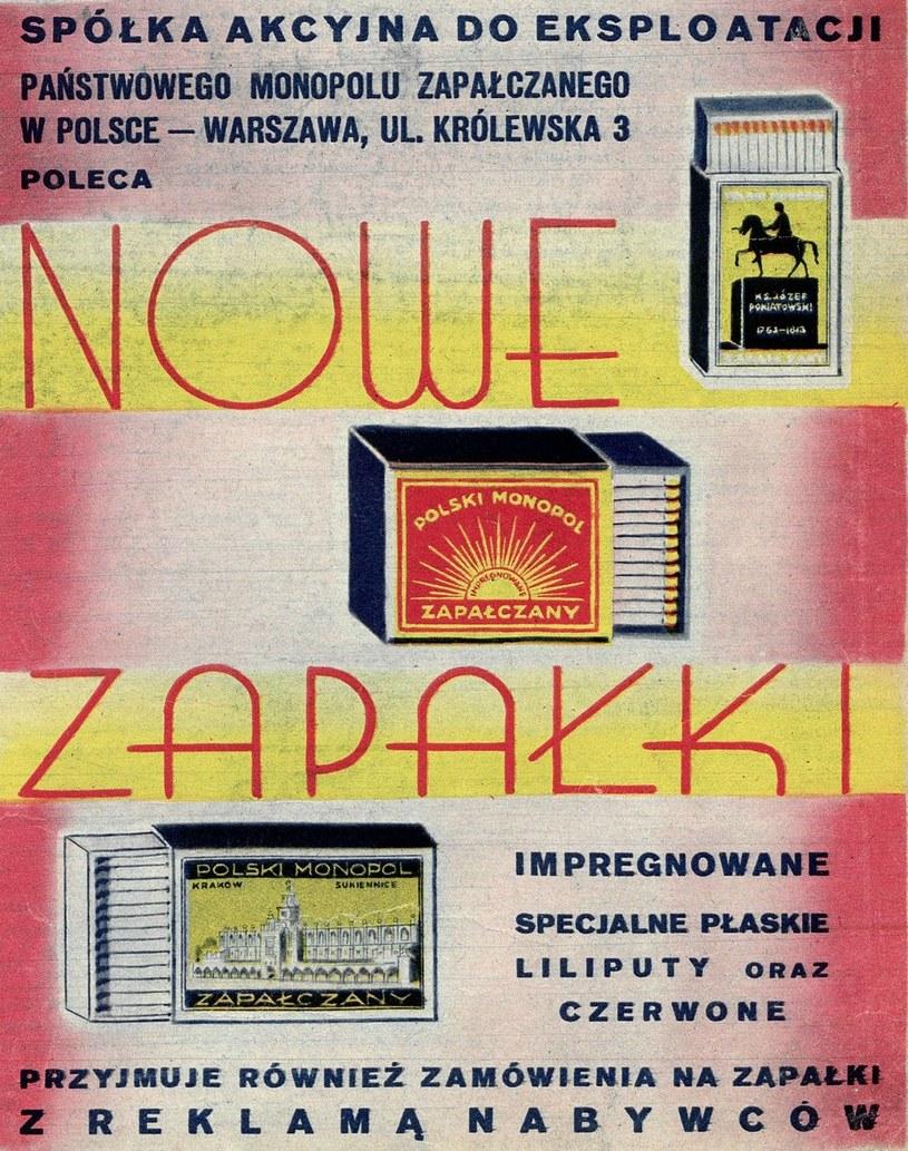 W przedwojennej Polsce funkcjonował również monopol zapałczany /domena publiczna