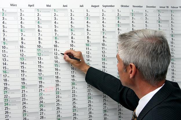 W przyszłym roku kalendarz korzystny dla pracownika! /© Panthermedia