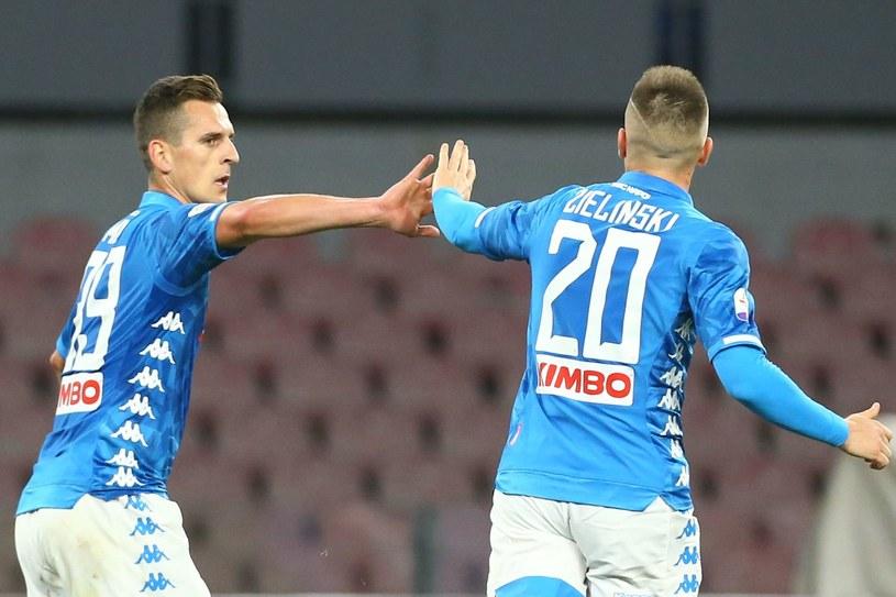 W przyszłym sezonie nie zobaczymy już Arkadiusza Milika i Piotra Zielińskiego w jednej drużynie? /AFP