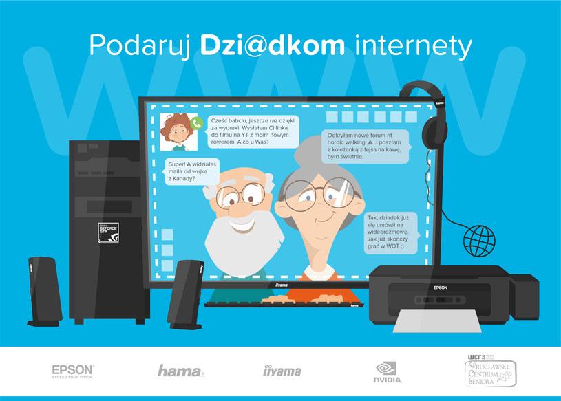 """W ramach akcji """"Podaruj dzi@dkom internety"""" Wrocławskie Centrum Seniora, otrzymało najnowszy sprzęt komputerowy /materiały prasowe"""