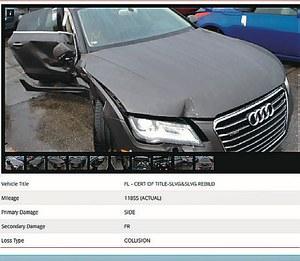 W raportach aut z rynku USA podawana jest historia serwisowa, często można znaleźć też zdjęcia z aukcji. (kliknij, żeby powiększyć) /Motor