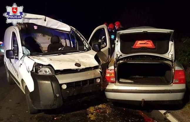 W różnym stopniu uszkodzone zostały aż trzy samochody /