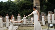 W ruinach świątyni Hery w Olimpii na Peloponezie rozpalono olimpijski ogień