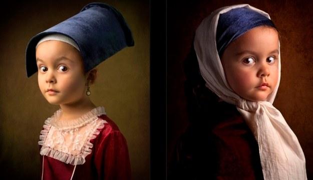 W serii zdjęć, których bohaterką jest 5-letnia córka Billa Gekasa, artysta przypomina słynne portrety Jana Vermeera, Rembrandta, Velazqueza. /Bill Gekas /Sztukatulka.pl