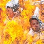 W Seulu spalono kukły Kimów
