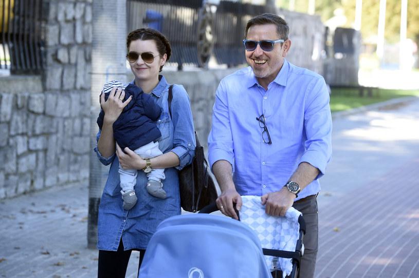 W sierpniu zeszłego roku Andrzej Sołtysik został ojcem /Kurnikowski /AKPA