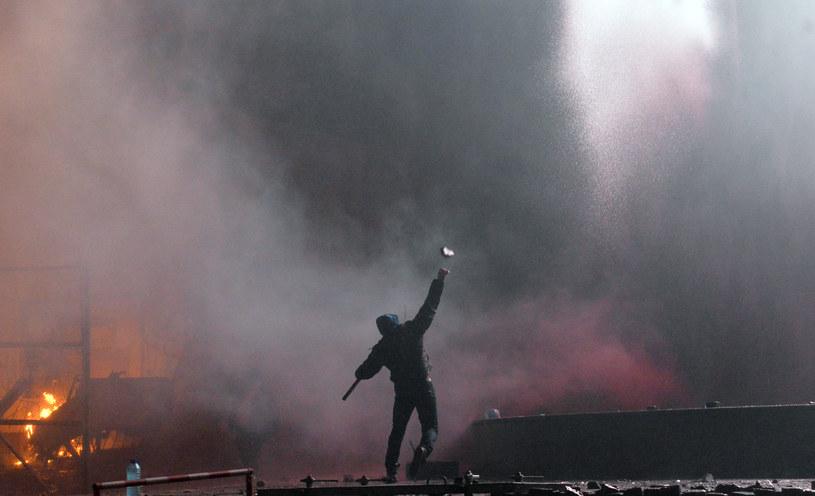 W skutek zamieszek na Majdanie zginęło 106 protestujących /AFP