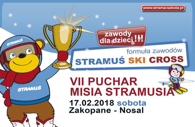 W sobotę 17 lutego 2017 r., na stokach zakopiańskiego Centrum Szkoleń Narciarskich Nosal, odbędą się otwarte zawody narciarskie dla dzieci o VII Puchar Misia Stramusia /materiały promocyjne