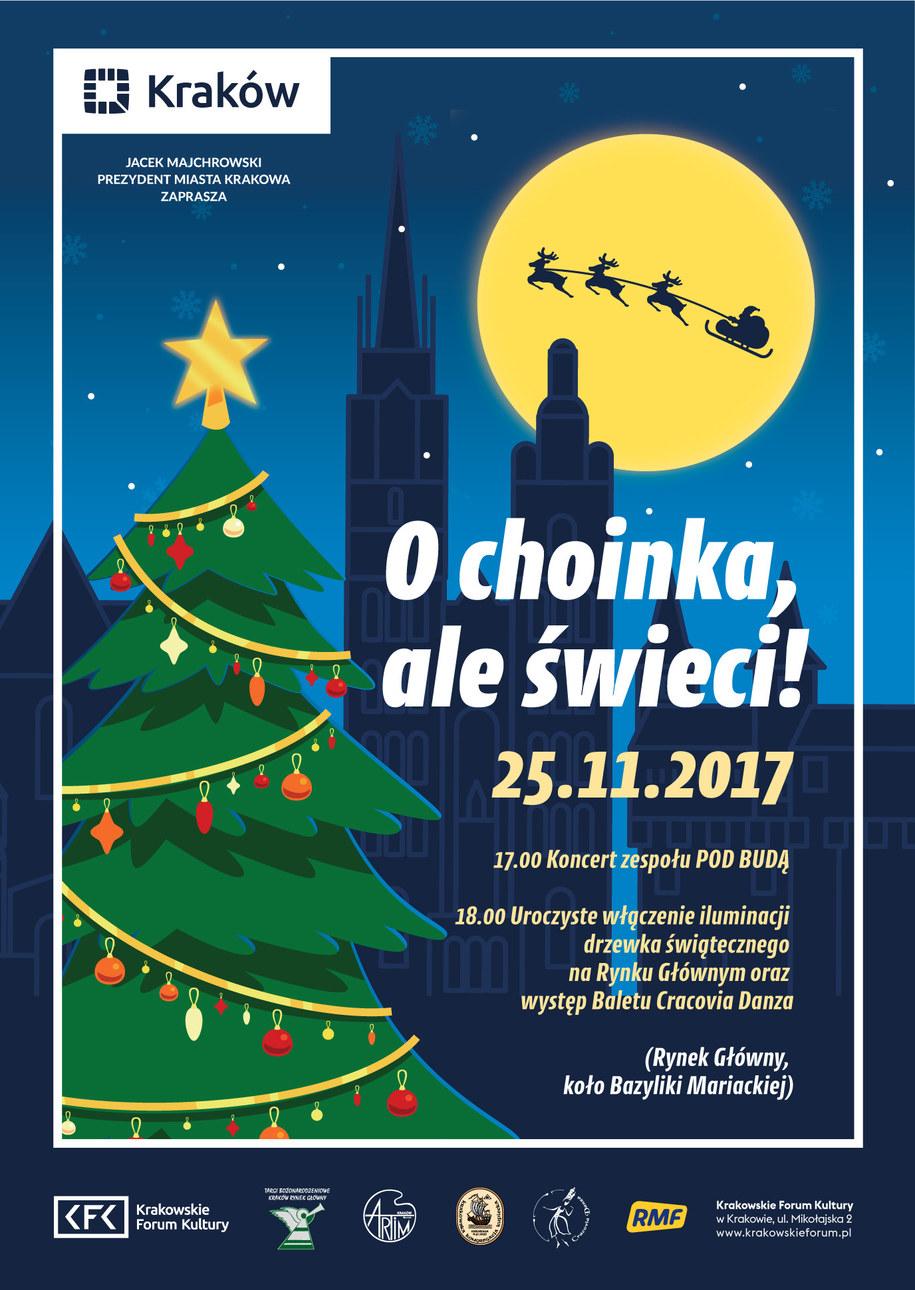 W sobotę 25 listopada Kraków rozświetlą pierwsze świąteczne iluminacje. /Materiały prasowe