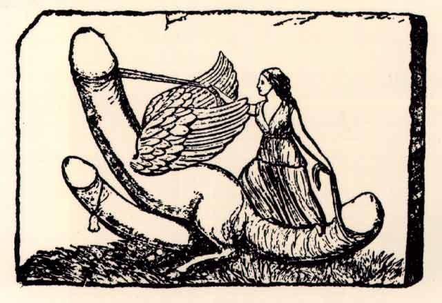 W średniowieczu bardzo popularne były broszki z motywami fallicznymi /Getty Images/Flash Press Media