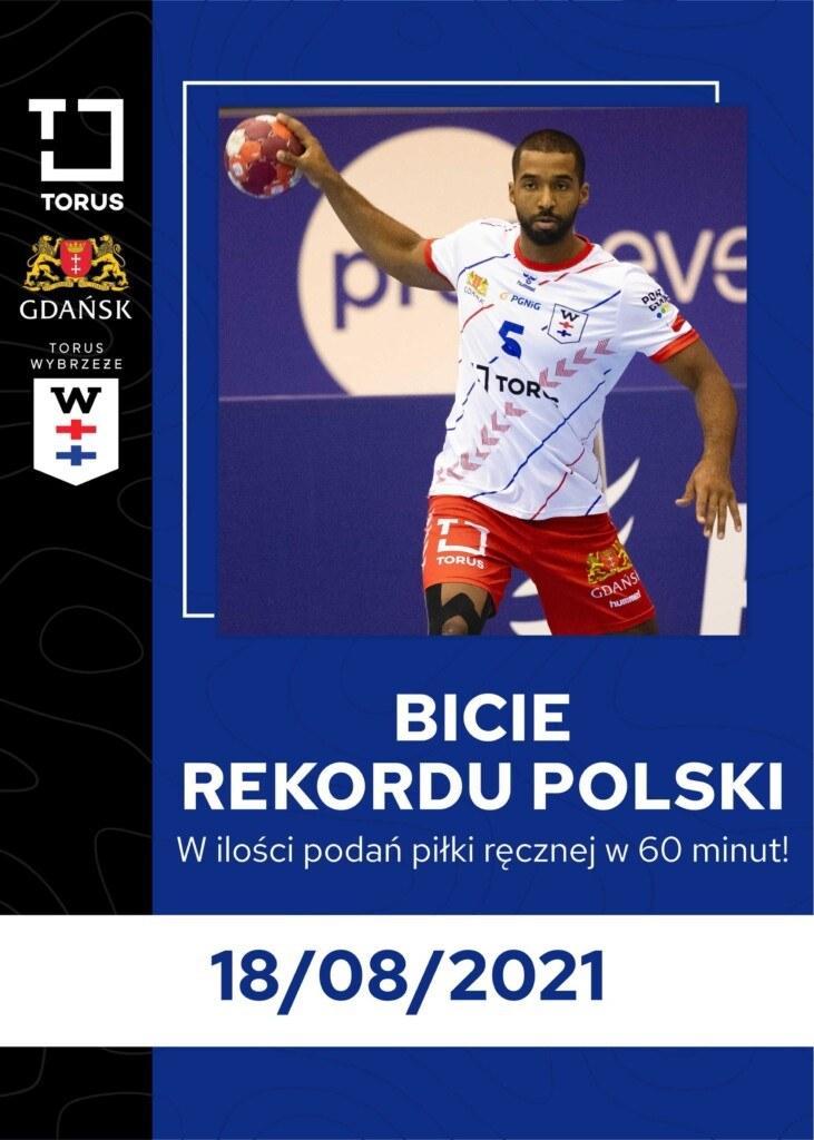 W środę 18 sierpnia na plaży w Gdańsku zostanie podjęta próba bicia rekordu Polski w liczbie podań piłki ręcznej / Torus Wybrzeże Gdańsk /