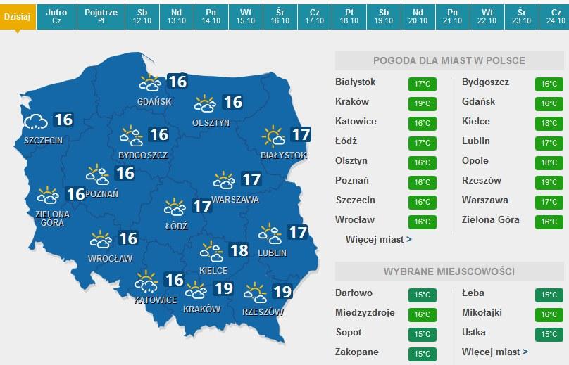 W środę najcieplej będzie na południu /INTERIA.PL