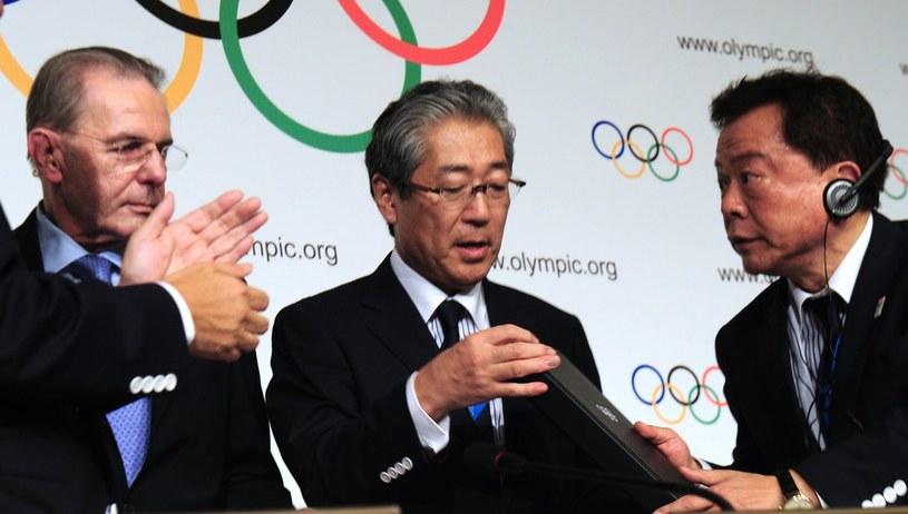 W środku Tsunekazu Takeda /AFP