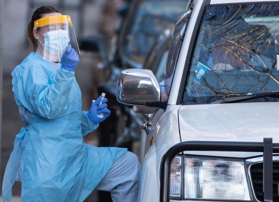 W stanie Wiktoria 108 nowych zakażeń SARS-CoV-2 - to najwięcej od 3 miesięcy /James Gourley /PAP/EPA