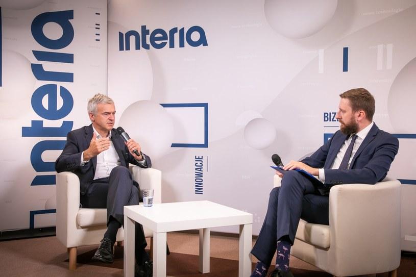 W studiu Interii Bartłomiej Pawlak, wiceprezes PFR /Fot. Ireneusz Rek /INTERIA.PL