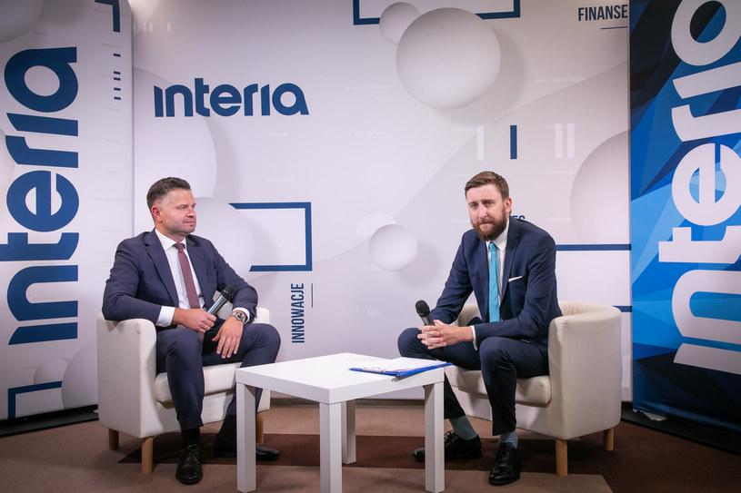 W studiu Interii Piotr Bujak, główny ekonomista PKO Banku Polskiego. /Fot. Ireneusz Rek /INTERIA.PL