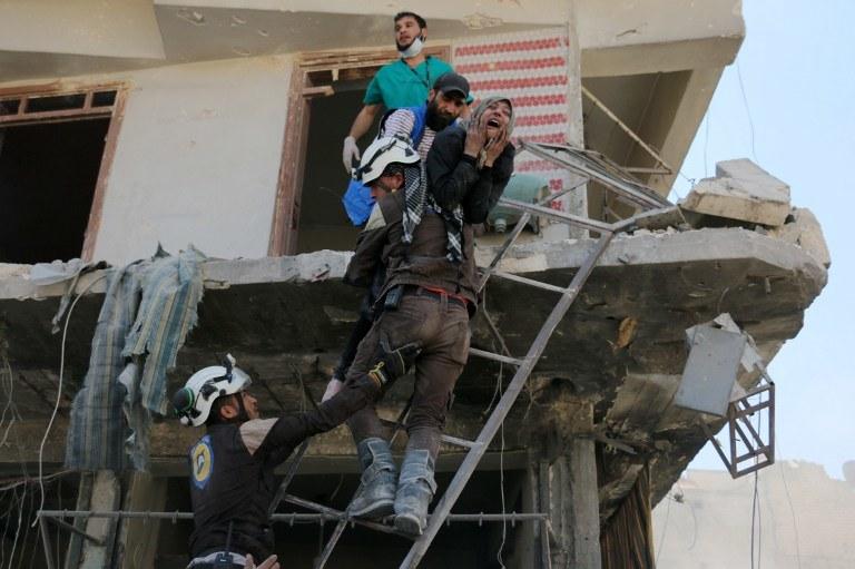 W Syrii codziennie giną cywile; na zdj. Aleppo /AMEER ALHALBI / AFP /AFP