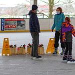 W Szczecinie otworzono kwiaciarnię... na lodowisku