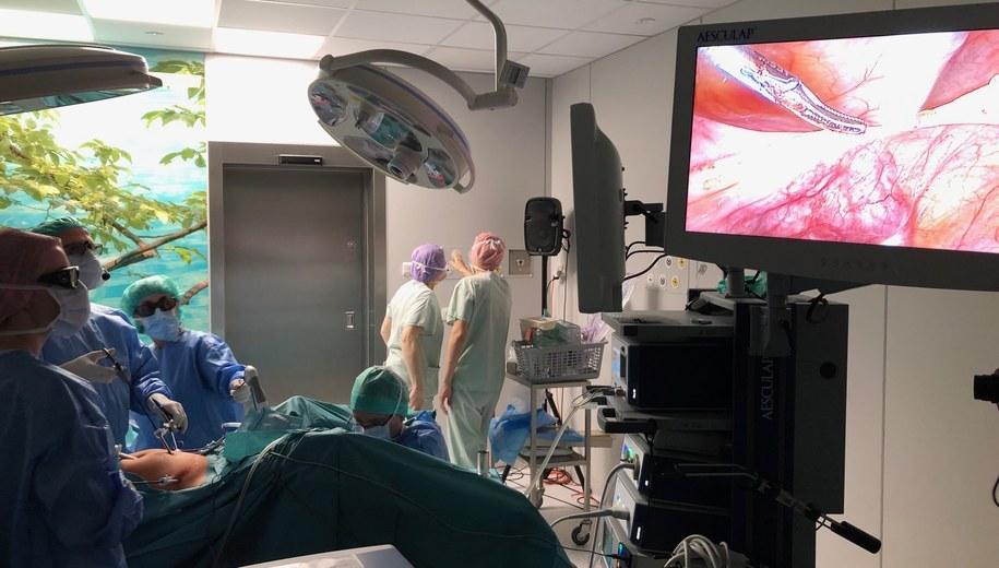 W szpitalu ginekologiczno-położniczym przy Polnej w ramach kolejnych warsztatów dla lekarzy, odbyło się kilka operacji laparoskopowych, czyli prowadzonych minimalnie inwazyjnymi metodami /Mateusz Chłystun /RMF FM