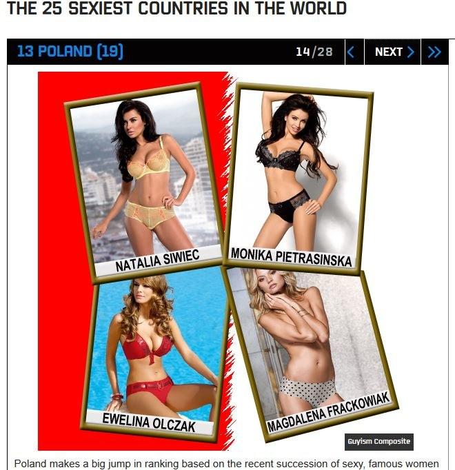 W taki oto sposób redaktorzy serwisu Guyism.com zilustrowali seksowne Polki /materiały prasowe