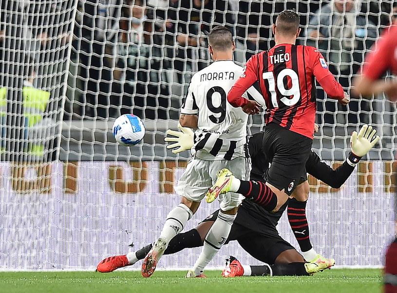 W taki sposób Alvaro Morata pokonał w 4. minucie Mike'a Maignana /PAP