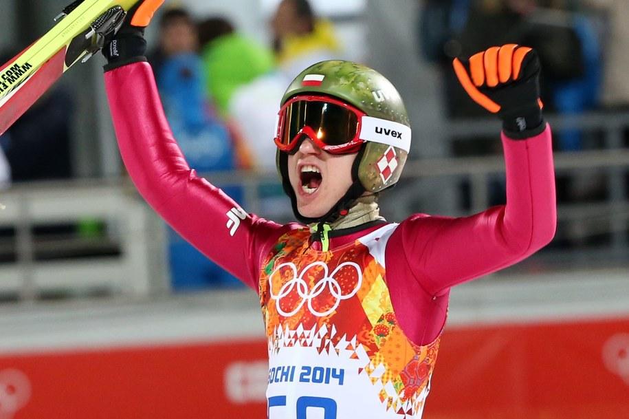 W takim kasku Kamil Stoch skakał podczas igrzysk / Grzegorz Momot    /PAP/EPA