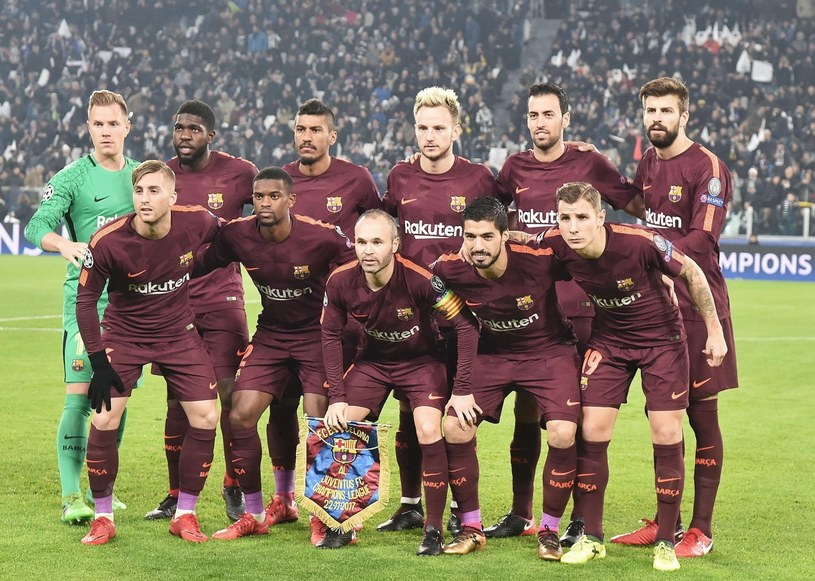 W takim składzie FC Barcelona rozpoczęła mecz z Juventusem w Lidze Mistrzów /PAP/EPA