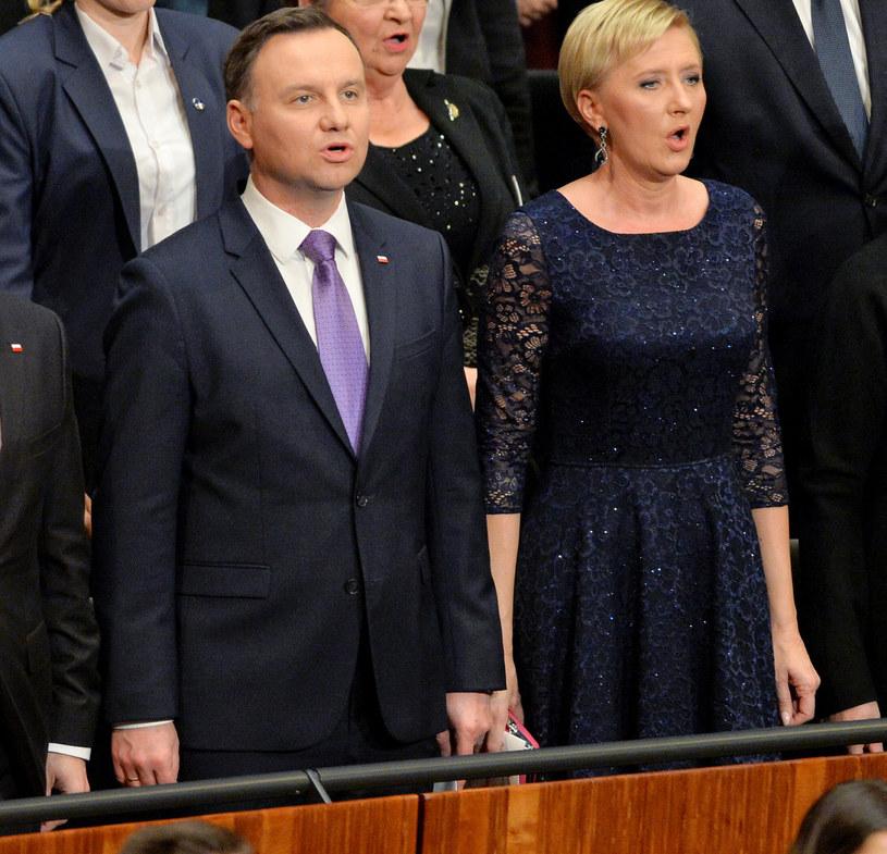 W tej sukience Agata Duda rzeczywiście nie wyglądała korzystnie? /Łukasz Kalinowski /East News