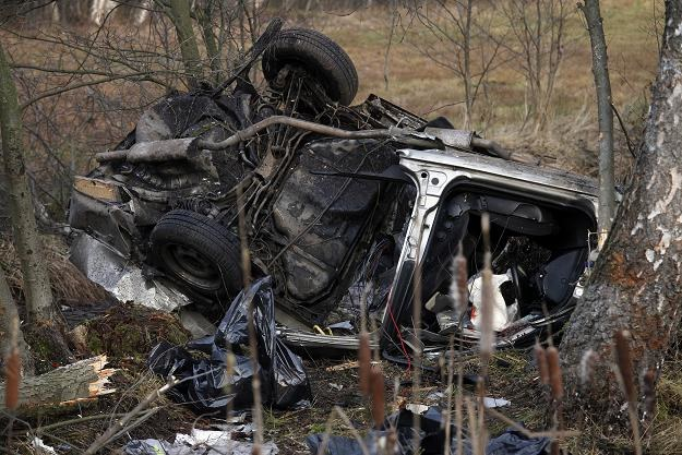 W tragicznym wypadku w Gałkówce zginęło 5 osób /fot. Artur Reszko /PAP