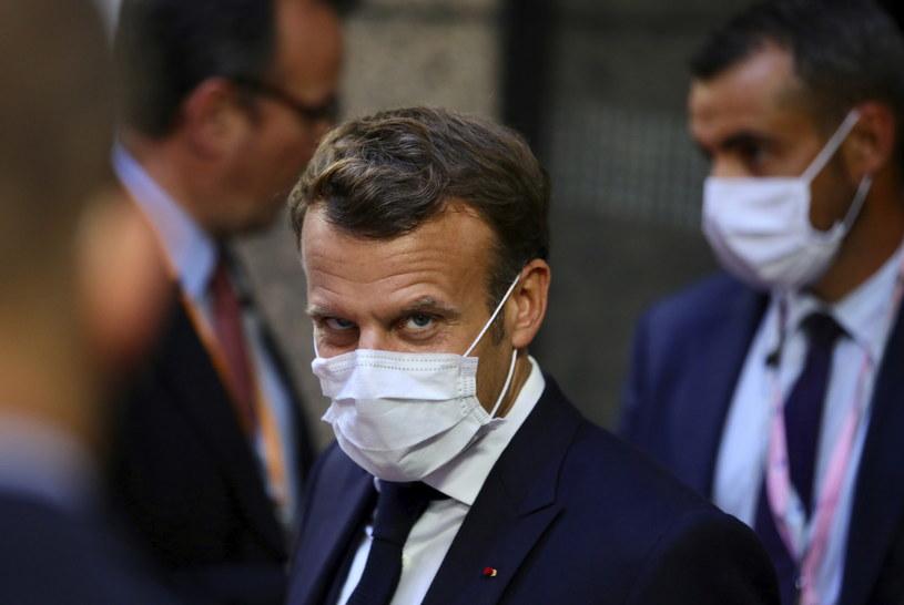 """W trakcie negocjacji doszło do spięcia między prezydentem Francji Emmanuelem Macronem a państwami """"oszczędnymi"""" /OLIVIER MATTHYS    /PAP/EPA"""