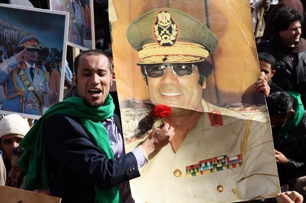 W Trypolisie demonstrowali zwolennicy Muammara Kadafiego /AFP