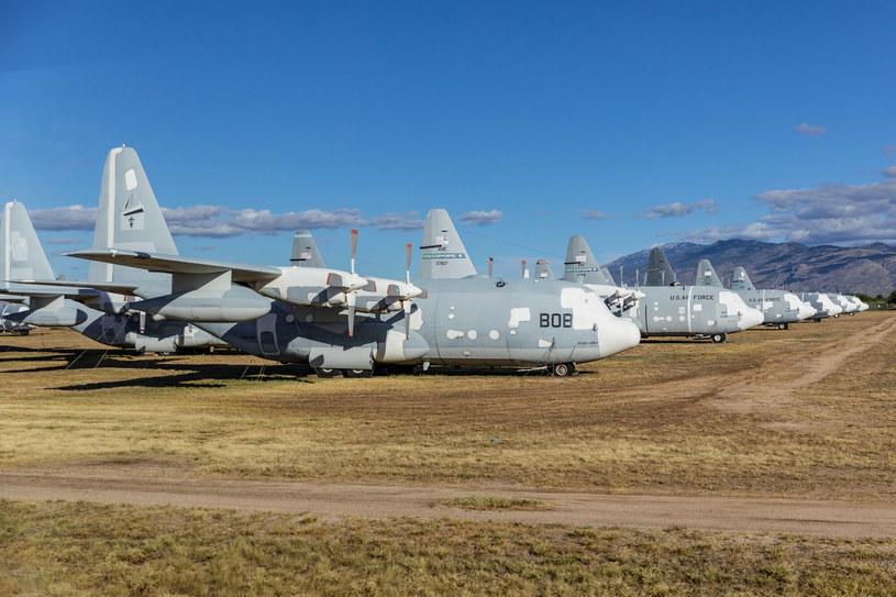 W Tucson stoją dziesiątki zakonserwowanych C-130 /Michał Adamowski /Reporter