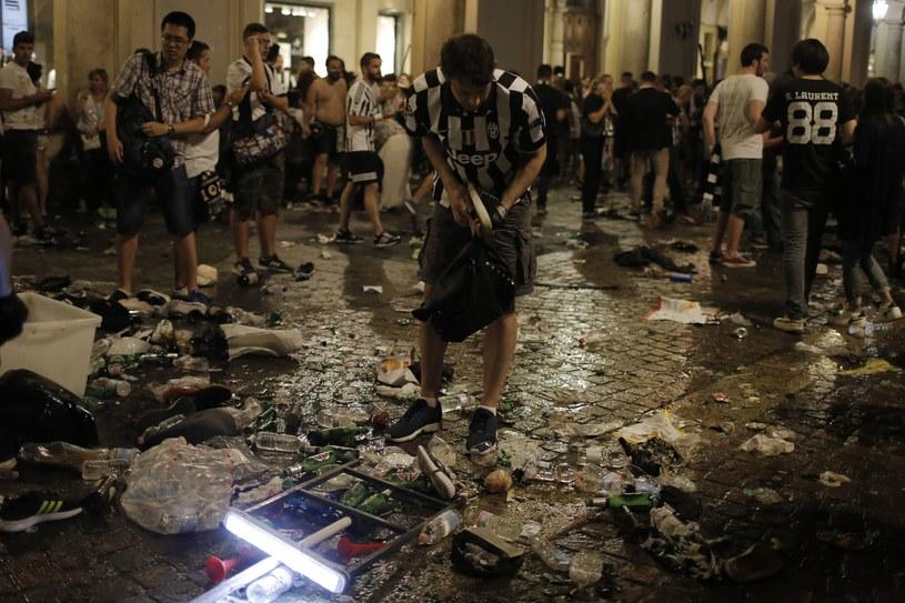 W Turynie w wyniku wybuchu paniki zostało rannych ponad 1,5 tysiąca osób /AFP