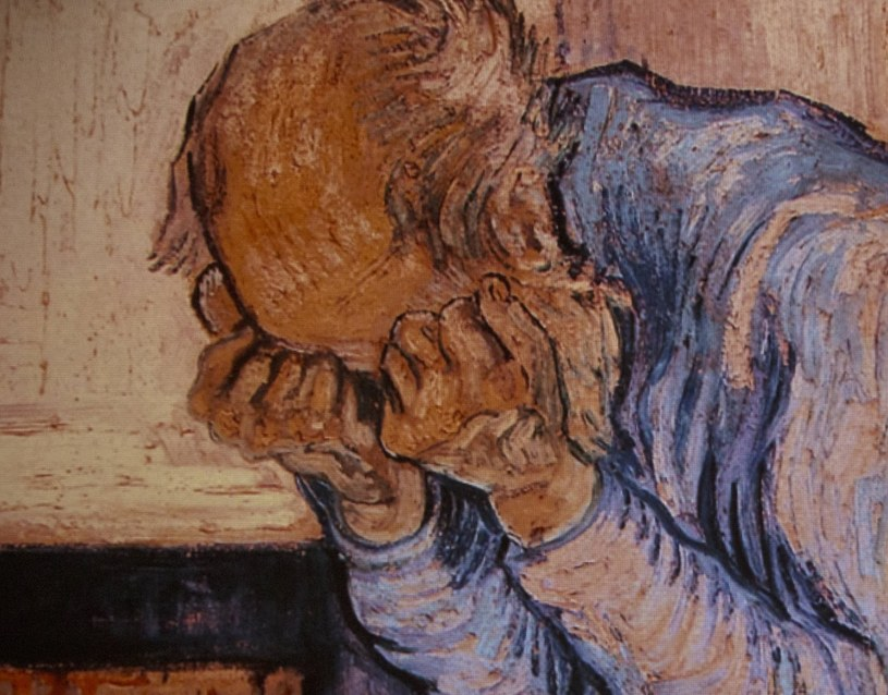 """W twórczości Van Gogha wielu badaczy dopatrywało się znamion schizofrenii. Na ilustracji """"Starzec w rozpaczy"""" /AFP"""