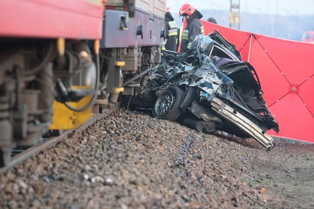 W tym BMW zginął kierowca /PAP