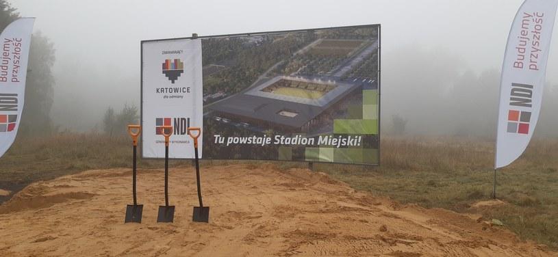 W tym miejscu, obok autostrady Wrocław - Kraków, powstanie stadion GKS-u Katowice /Paweł Czado /INTERIA.PL