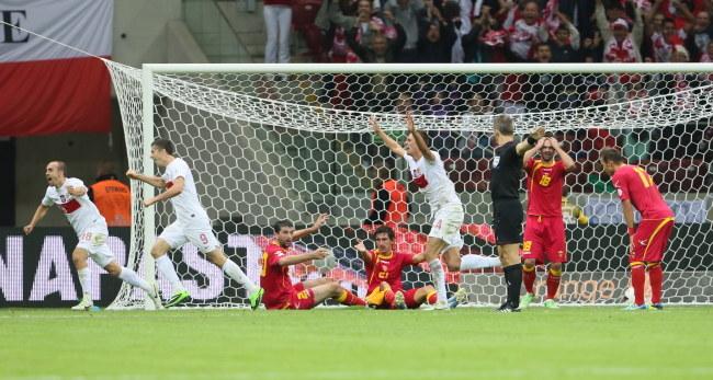 W tym momencie wydawało się, że Polacy wygrają jednak z Czarnogórą /Leszek Szymański /PAP