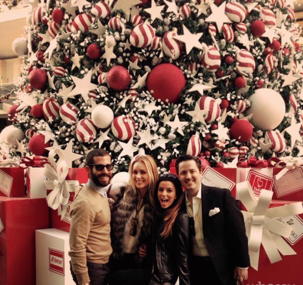 """W tym roku Eva Longoria (""""Gotowe na wszystko"""") już złapała świątecznego bakcyla i zaczęła gorączkowe przygotowania. Chwali się zdjęciami na Instagramie. /Instagram /materiały prasowe"""